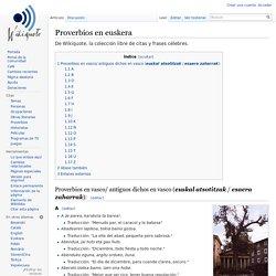 Proverbios en euskera - Wikiquote