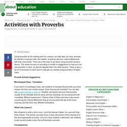 Lesson on Proverbs for English Learners