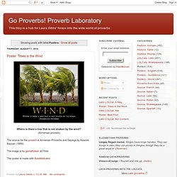 Go Proverbs! Proverb Laboratory: Posters