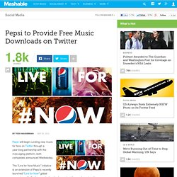Pepsi to Provide Free Music Downloads on Twitter