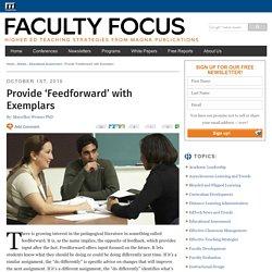 Provide 'Feedforward' with Exemplars