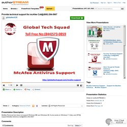 Provide Technical Support for Mcafee Call@(800) 294-5907