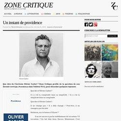 Providence de Olivier Cadiot