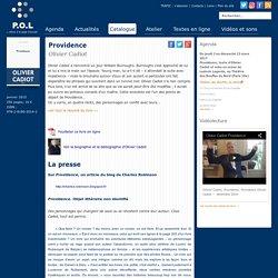 Providence - Olivier Cadiot