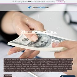 Get Affordable Short Term Loans in Canada by GimmeMoneyNow