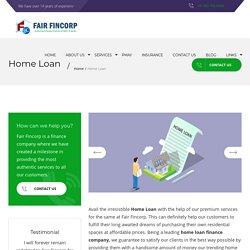Top Home Loan Provider Company in Dehradun