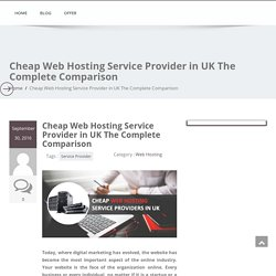 Cheap Web Hosting Service Provider in UK The Complete Comparison - Managed Web Hosting
