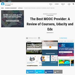 The Best MOOC Provider: A Review of Coursera, Udacity and Edx - SkilledUp.com