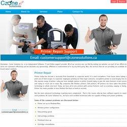 Online Printer Repair Support Provider - Czonesolutions.ca