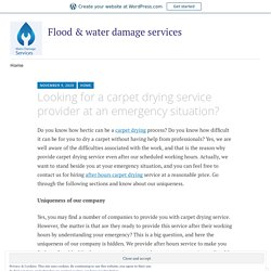 Looking for a carpet drying service provider at an emergency situation? – Flood & water damage services