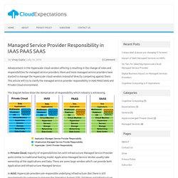 Managed Service Provider Responsibility IAAS PAAS SAAS