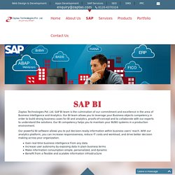 SAP BI, SAP Service Provider, SAP Software And Solutions, SAP Software