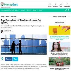 Top Providers of Business Loans for OFWs - MoneyGuru Blog