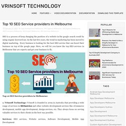 Top 10 SEO Service Providers in Melbourne