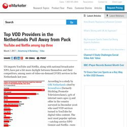Top VOD Providers in the Netherlands Pull Away from Pack - eMarketer