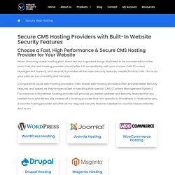 Secure CMS Hosting Providers With Built-In Website Security Features