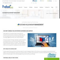 CRM Solution Providers, CRM Software Solutions, Web Based CRM Software, CRM Software Developers India, US, UK, Canada