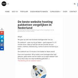 De beste website hosting providers vergelijken in Nederland