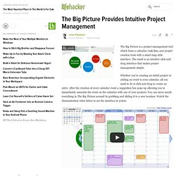 The Big Picture Provides Intuitive Project Management - Project Management - Lifehacker