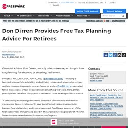 Don Dirren Provides Free Tax Planning Advice For Retirees