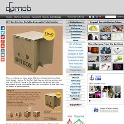 Portable Cardboard Toilet