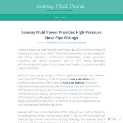 Buy High-Pressure Hose Pipe Fittings from Seaway Fluid Power