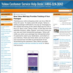 Now Yahoo Mail App Provides Tracking of Your Packages