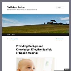 Providing Background Knowledge: Effective Scaffold or Spoon-feeding?