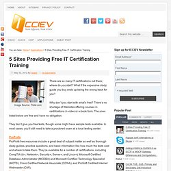 5 Sites Providing Free IT Certification Training
