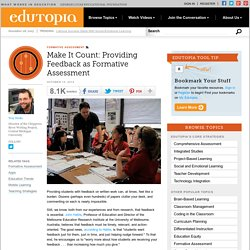 Make It Count: Providing Feedback as Formative Assessment