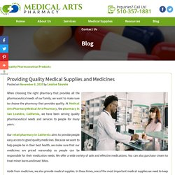 Providing Quality Medical Supplies and Medicines