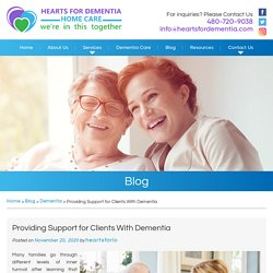 Providing Support for Clients With Dementia