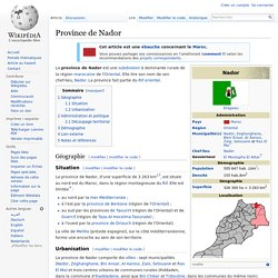 Province de Nador - wikipedia
