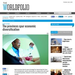 The provinces spur economic diversification
