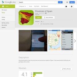 Provincias de España – Applications Android sur GooglePlay