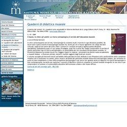 Sistema Museale della Provincia di Ravenna - Quaderni di didattica museale