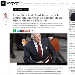 La Audiencia Provincial de Madrid extravía la causa que investiga el borrado de los discos duros de los ordenadores de Luis Bárcenas