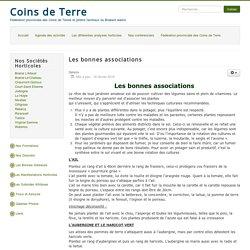 La Fédération provinciale des Coins de Terre et Jardins familiaux du Brabant wallon - Les bonnes associations