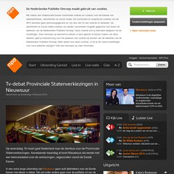 Tv-debat Provinciale Statenverkiezingen in Nieuwsuur