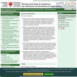 Servizio provinciale di valutazione per l'istruzione e la formazione in lingua italiana
