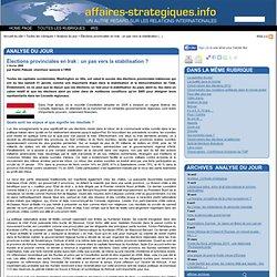 Élections provinciales en Irak : un pas vers la stabilisation ?