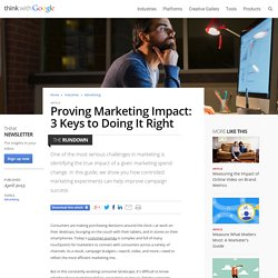 Proving Marketing Impact: 3 Keys to Doing It Right