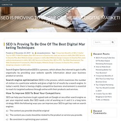 SEO Is Proving To Be One Of The Best Digital Marketing Techniques