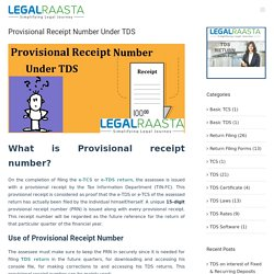 What is the provisional receipt number under TDS?