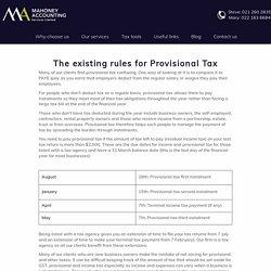 : Provisional Tax