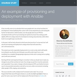 An example of provisioning and deployment with Ansible