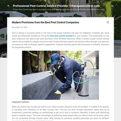 Modern Provisions from the Best Pest Control Companies