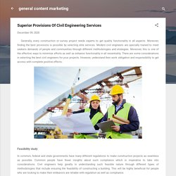 Superior Provisions Of Civil Engineering Services