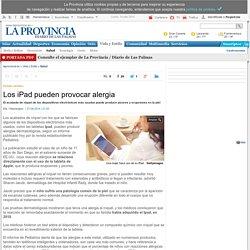 Los iPad pueden provocar alergia
