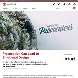 Provocation Can Lead to Emotional Design